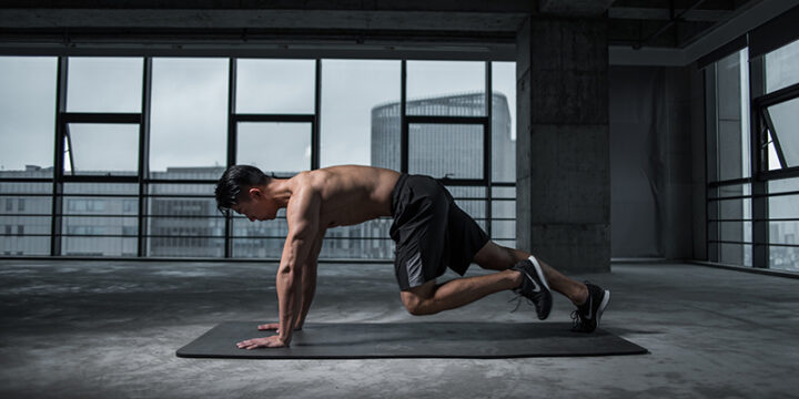 Man working out after consuming L-Arginine