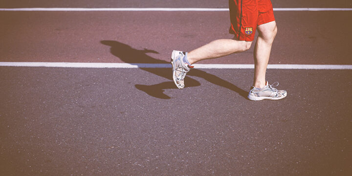 Man jogging with Lcarnitine support