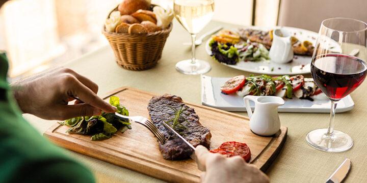 Steak which is rich in protein